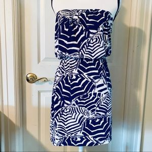 Lilly Pulitzer Strapless Atwood Dress Bright Navy